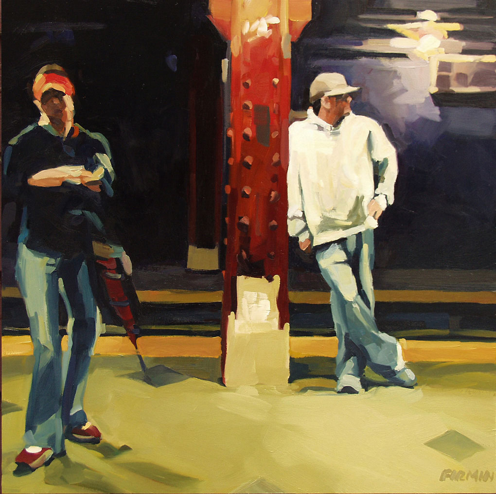 """59th Street Station II"", painting by Lisbeth Firmin"