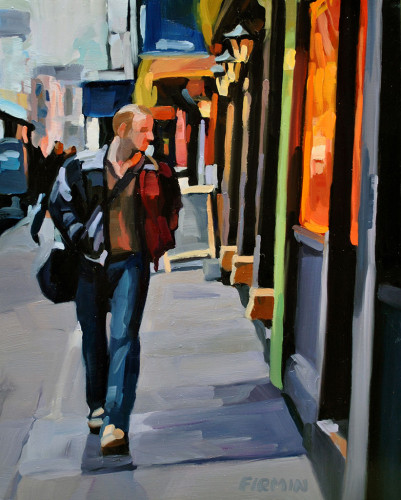Baxter Street, Late Afternoon, painting by Lisbeth Firmin