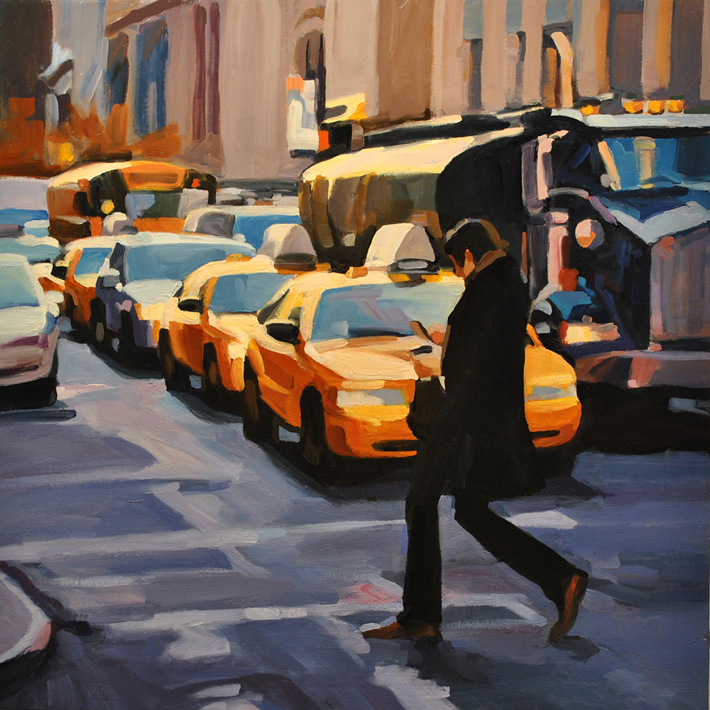 East 23rd Street II, painting by Lisbeth Firmin