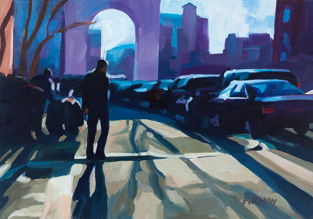 Washington Square, Late Afternoon, by Lisbeth Firmin