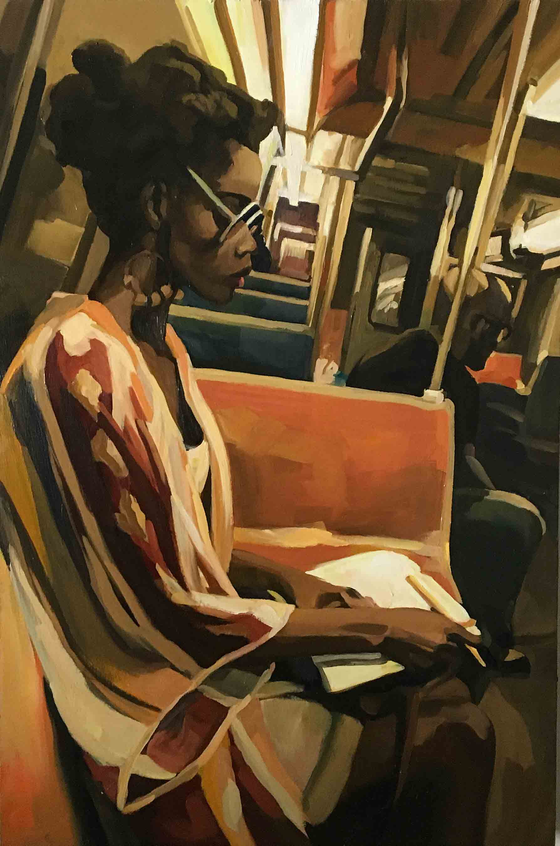 Woman on a Subway