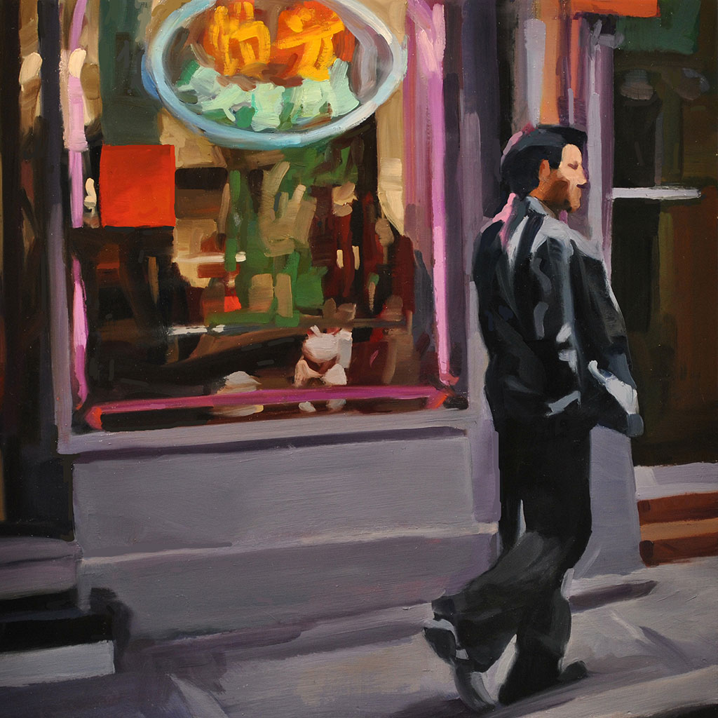 Chinatown Windows I, painting by Lisbeth Firmin