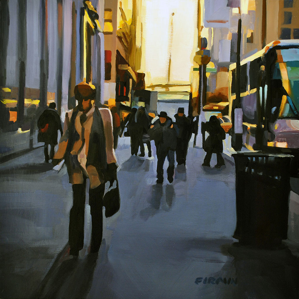 Early Morning, East 23rd, painting by Lisbeth Firmin