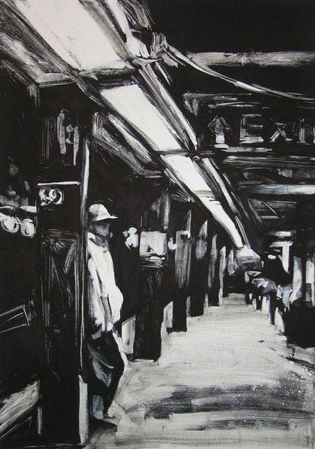 59th Street Station I, print by Lisbeth Firmin