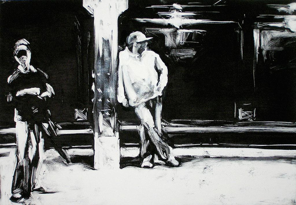 59th Street Station II, print by Lisbeth Firmin