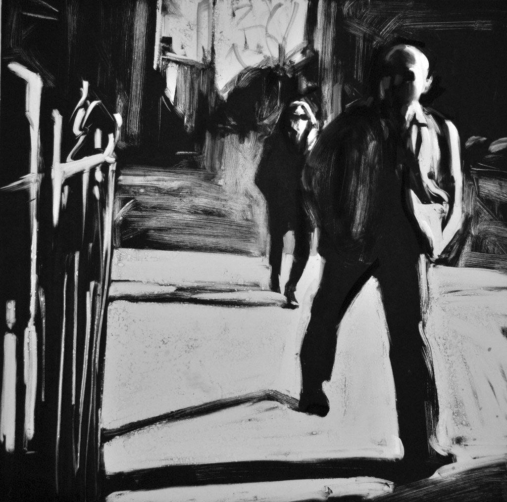 Man Walking, Williamsburg, Brooklyn