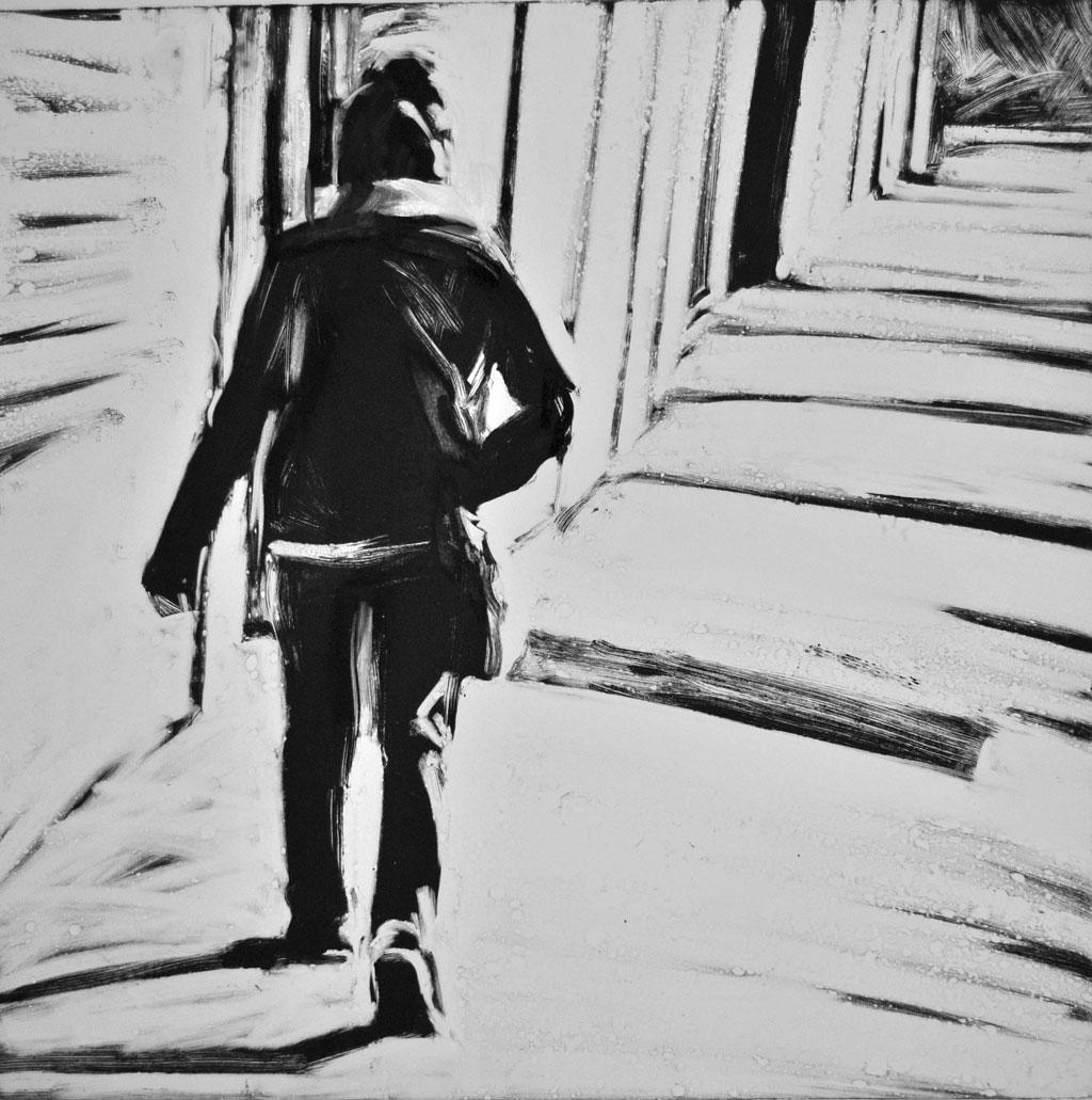 Woman Walking, City Line, Brooklyn