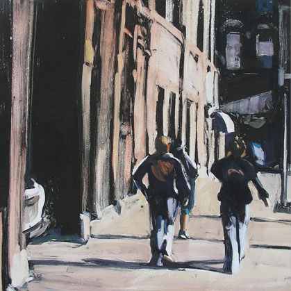 Heading Down Chestnut, print by Lisbeth Firmin