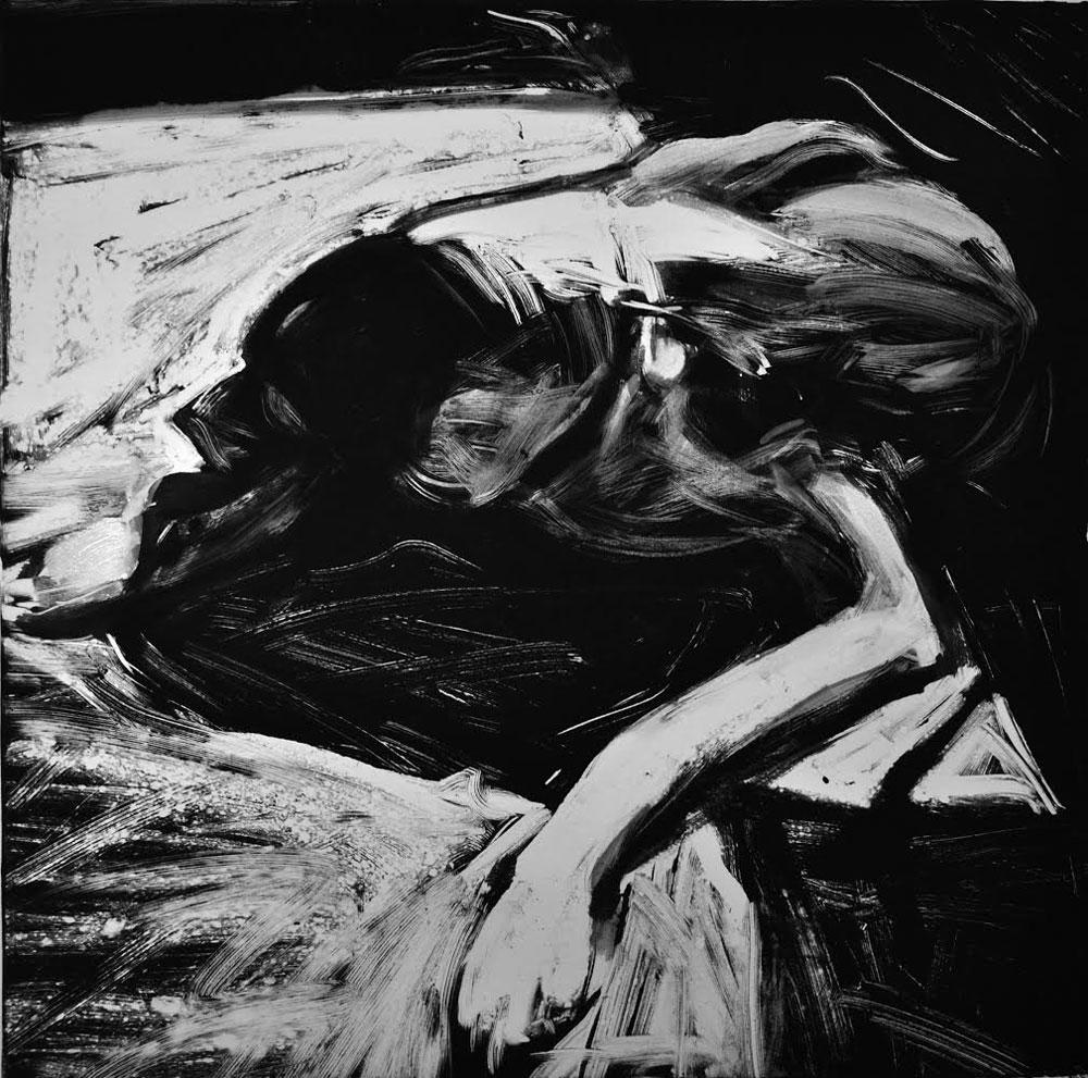 On the Deck, print by Lisbeth Firmin