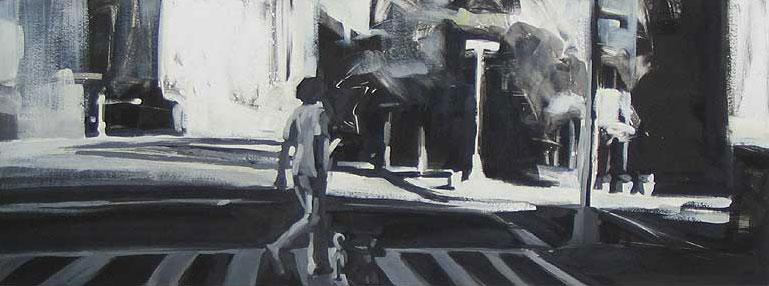 Sixth Avenue, print by Lisbeth Firmin