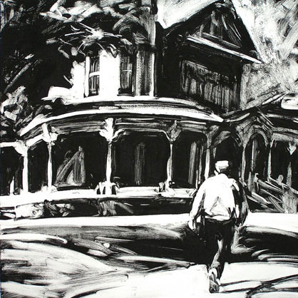 Wilber Mansion, Late Afternoon, print by Lisbeth Firmin