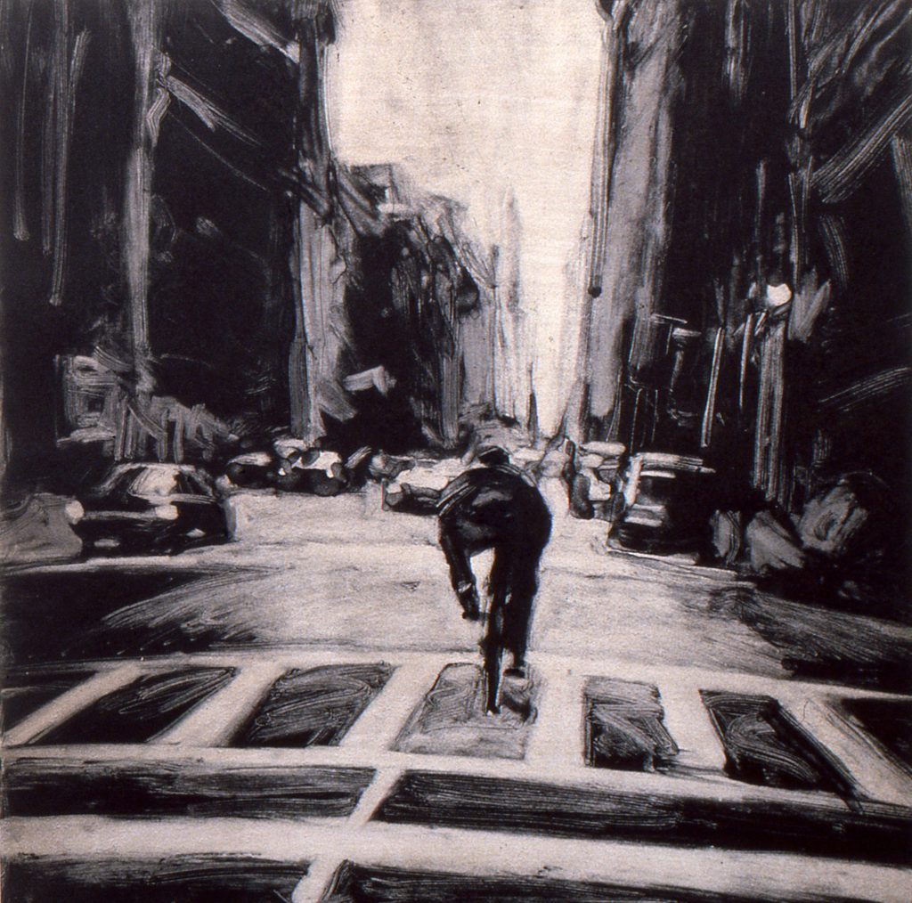 Biker on Broadway