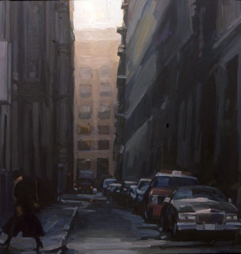 Courtland Alley, oil painting by Lisbeth Firmin