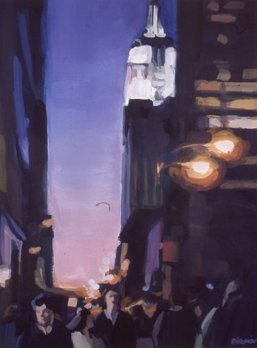 Empire State Building, gouache by Lisbeth Firmin