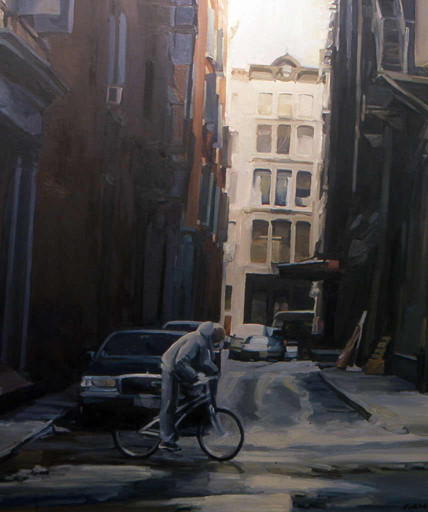 Franklin Alley, oil painting by Lisbeth Firmin