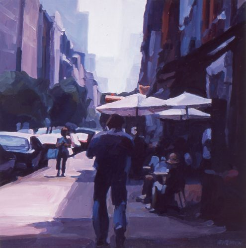 La Guardia Place, oil painting by Lisbeth Firmin