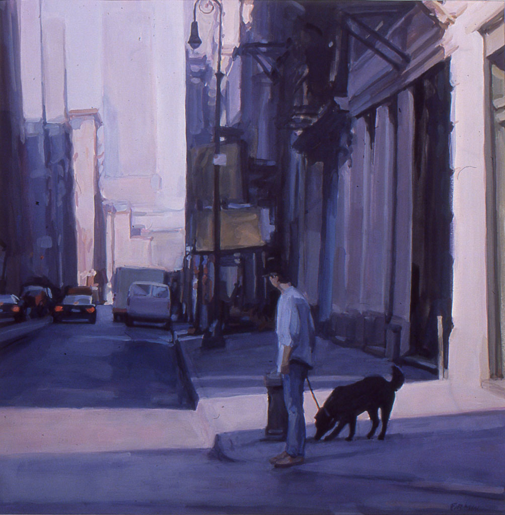 Mercer Street, gouache by Lisbeth Firmin