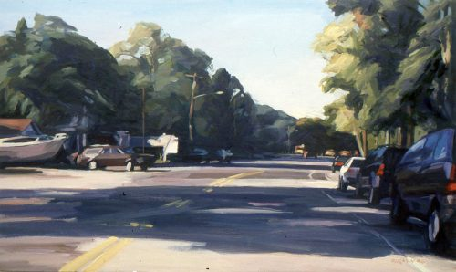North Country Road, oil painting by Lisbeth Firmin
