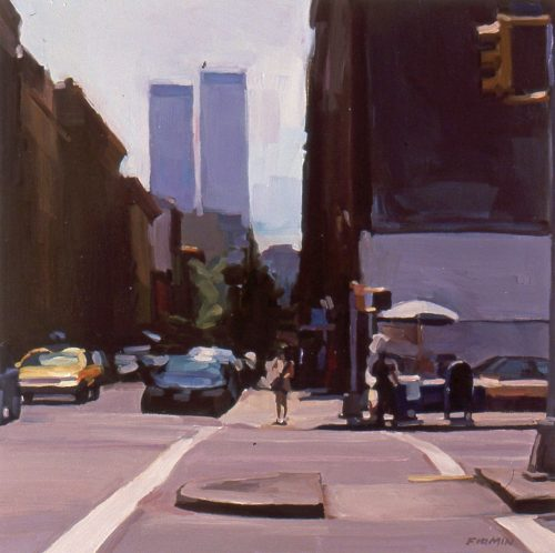 Sullivan Street, Noon, oil painting by Lisbeth Firmin