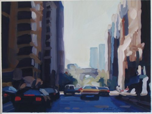 Lower Fifth Ave. gouache