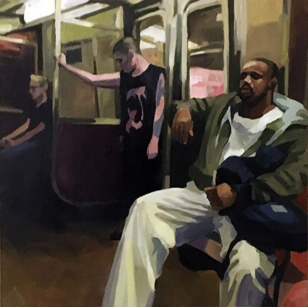 The D Train, painting by Lisbeth Firmin